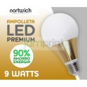 Ampolleta Led 9 Watts Premium
