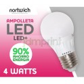 Ampolleta Led 4 Watts Eco / Led+