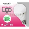 Ampolleta Led 9 Watts / Led+