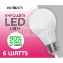 Ampolleta Led 6 Watts / Led+