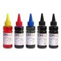 Set 5 Tintas Colores 100ml. Recarga Dye Pigmento Para Canon