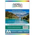Papel foto glossy brillante doble cara Nobucolor A4 120 gr. 50 hojas
