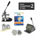 Pack moldes de chapitas 37 mm.