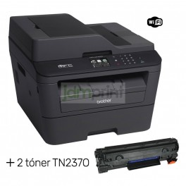 Pack Multifuncional Láser Brother WiFi Dúplex MFC-L2740DW + 2 toner TN2370