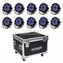 Pack 10 Par LED 30x10w RGBW 4 en 1 + Case 10 espacios (10 en 1)