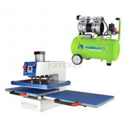 Estampadora automática 40x60 cm. neumática con compresor