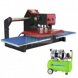 Estampadora Automática 40x60 cm. Neumática Plana + compresor