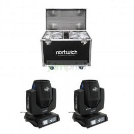 Pack 2 Cabeza Movil Beam 230 7R + Case 2 Espacios