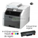 Multifuncional Láser Color Brother Adf Mfc-9330cdw + 4 toner altern. TN225