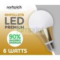 Ampolleta Led 6 Watts Premium