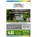 Papel foto semi brillo bifaz 4R 102x152 Mm. 270 gr. 50 hojas Nobucolor