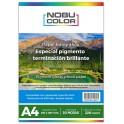 Papel foto pigmentado brillante 220 gr. A4 20 hojas Nobucolor
