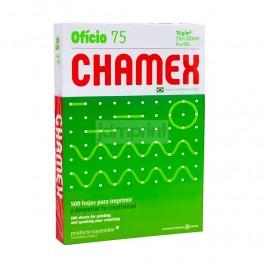 Resma Oficio papel blanco 75grs 500 hojas Chamex