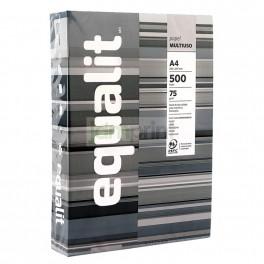 Resma Papel blanco A4 75grs 500 hjs Equalit