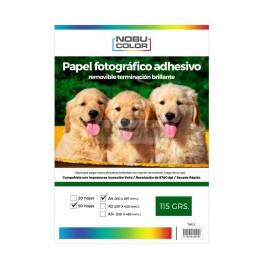 Papel foto glossy adhesivo permanente Nobucolor A3+ 115 gr. 20 hojas