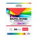 Papel Bond A4 Mix 10 colores - 100 hojas - 180 grs.