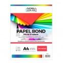 Papel Bond A4 Mix 10 colores - 100 hojas - 230 grs.