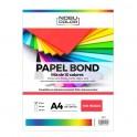 Papel Bond A4 Mix 10 colores - 100 hojas - 80 grs.