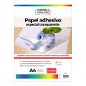 PET Adhesivo Semi Transparente A4 - 80um - 10 hojas