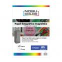 Papel foto magnético matte Nobucolor A4 1 hoja 640 gr.