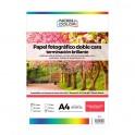 Papel foto glossy brillante doble cara Nobucolor A4 300 gr. 20 hojas