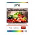 Papel foto glossy adhesivo permanente Nobucolor A4 115 gr. 20 hojas