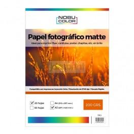 Papel fotográfico matte Nobucolor A3 200 gr. 20 hojas